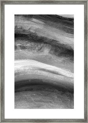 Smoke- Abstract Art By Linda Woods Framed Print by Linda Woods