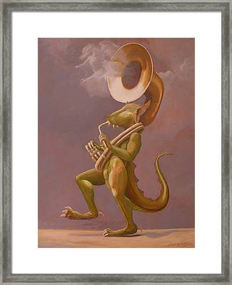 Smoke And Dragons Framed Print by Leonard Filgate