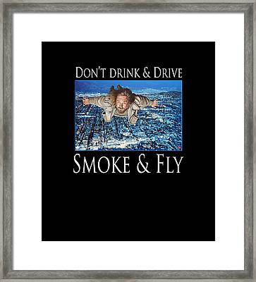 Framed Print featuring the painting Smoke And Fly by Tom Roderick