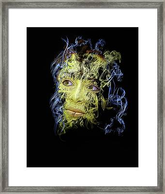 Smoke And Mirror Framed Print