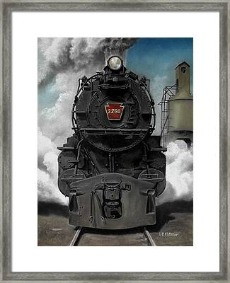 Smoke And Steam Framed Print