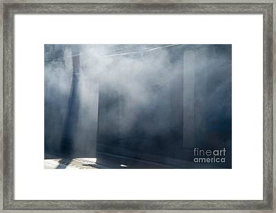 Smoke And Sunlight Mingle On A Street In Trinidad Framed Print by Sami Sarkis