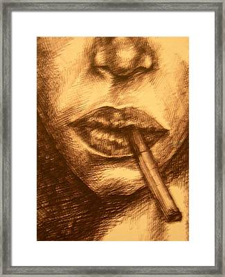 Smoke Break Framed Print by J Oriel