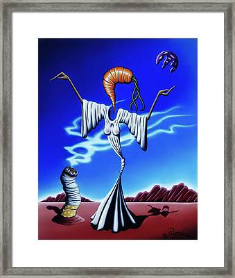 Framed Print featuring the painting Smoke Dance by Paxton Mobley