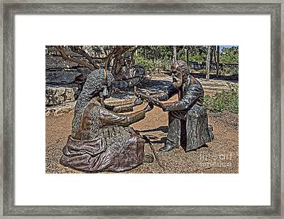 Smoke For Peace Framed Print