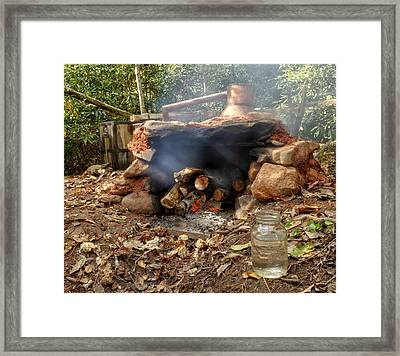 Smoke From Moonshine Still Framed Print