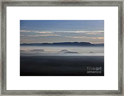 Framed Print featuring the photograph Smoke From Wildfires After Sunrise In The Verde Valley by Ron Chilston