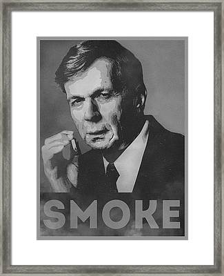 Smoke Funny Obama Hope Parody Smoking Man Framed Print by Philipp Rietz