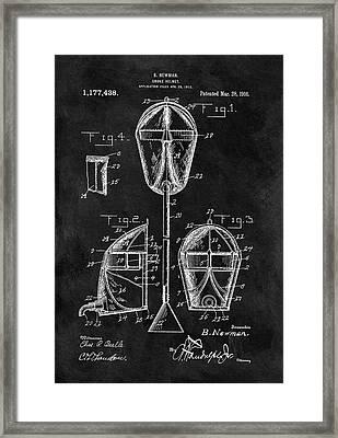Smoke Helmet Patent Framed Print by Dan Sproul