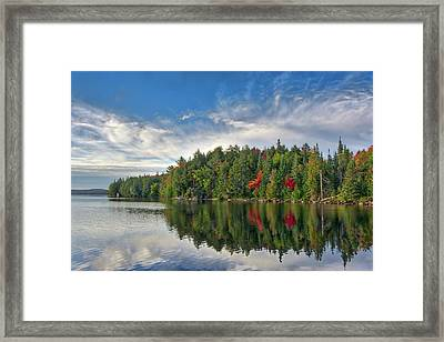 Smoke Lake Framed Print