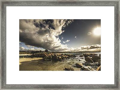 Smoke Like Clouds On The Bay Of Fires Framed Print by Jorgo Photography - Wall Art Gallery
