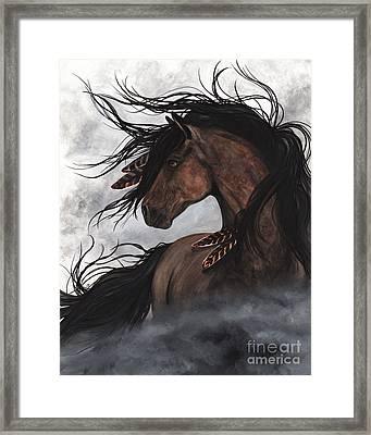 Smoke Majestic Horse Framed Print by AmyLyn Bihrle
