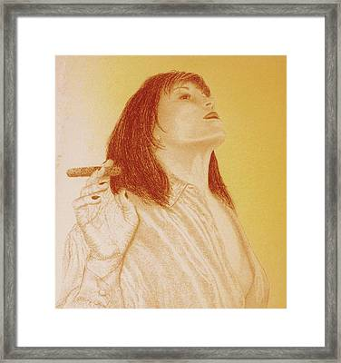 Smoke N Fire Framed Print