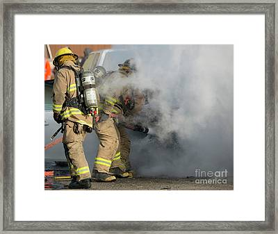 Smoke Obscured Framed Print by Mike Dawson
