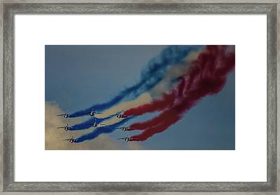 Smoke On Framed Print by Martin Newman
