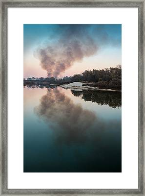 Smoke On The Water. Horytsya, 2014. Framed Print
