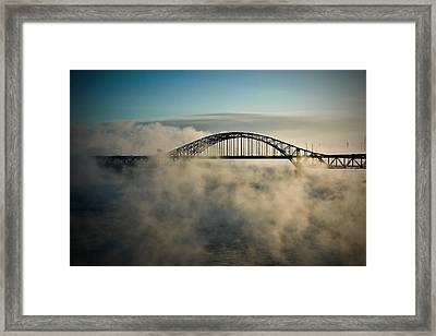 Smoke On The Water Framed Print by Michel Filion