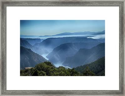 Smoke Over Flaming Gorge Framed Print