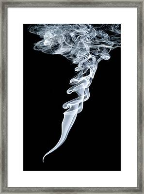 Smoke Patterns Framed Print by Paul Rapson
