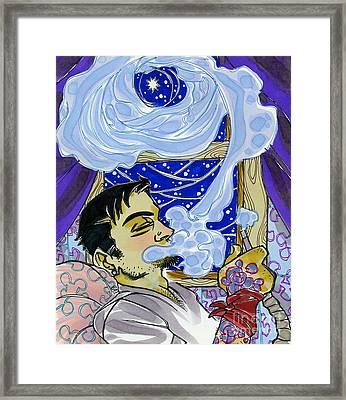 Smoke Ringed Stars Framed Print