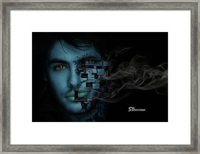 Smoke Framed Print by Surreal Photomanipulation