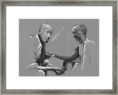 Smoke Time Framed Print by James Robinson