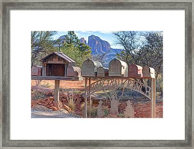 Smoke Trail Ranch Framed Print