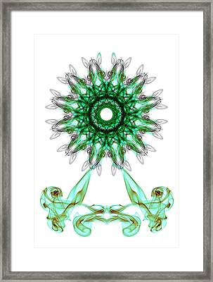 Smoke Wheel Framed Print
