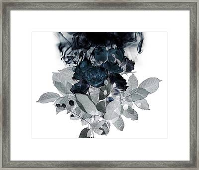 Smoke Without Fire IIi Framed Print by Varpu Kronholm