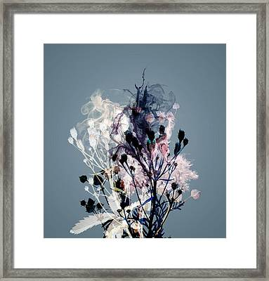 Smoke Without Fire V Framed Print by Varpu Kronholm