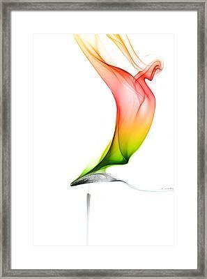 Framed Print featuring the photograph smoke X by Joerg Lingnau
