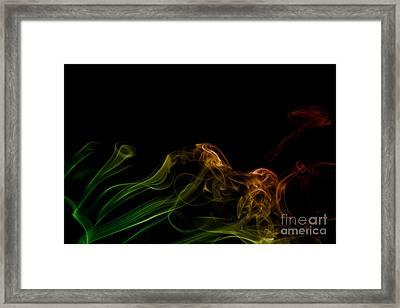 Framed Print featuring the photograph smoke XXXI by Joerg Lingnau