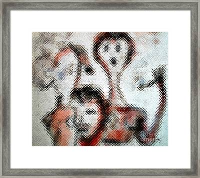 Smokers  Framed Print by Ginette Callaway