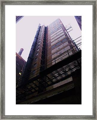 Smokestack And Fire Escape II Framed Print by Anna Villarreal Garbis