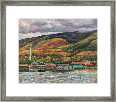 Framed Print featuring the painting Smokestack Lahaina Maui by Darice Machel McGuire