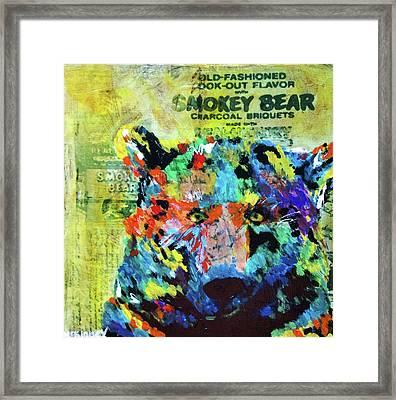 Smokey Bear Framed Print by Lisa McKinney