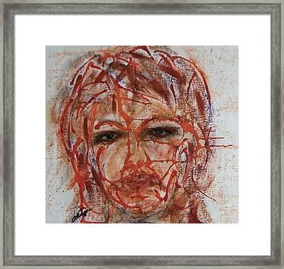 Smokey Eyes Framed Print by Cathy Minerva