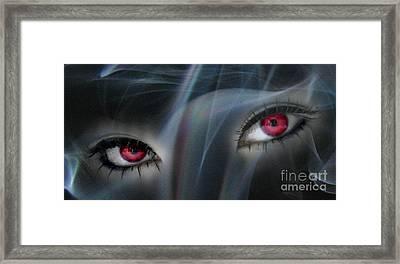 Smokey Eyes Framed Print