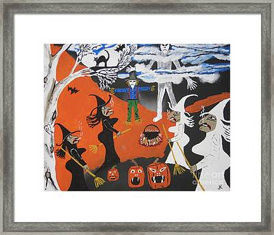 Smokey Halloween Framed Print by Jeffrey Koss