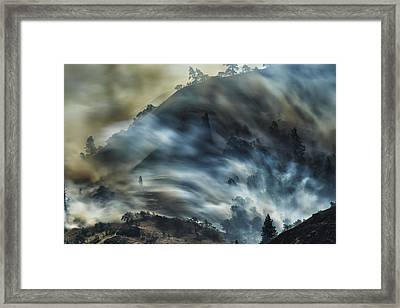 Smokey Hillside Framed Print by Bill Devlin