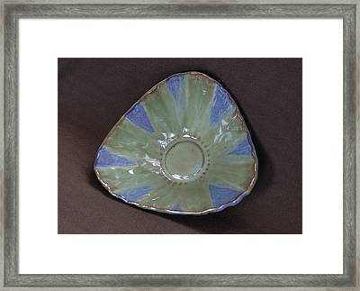 Smokey Merlot And Seaweed Triangular Bowl Framed Print
