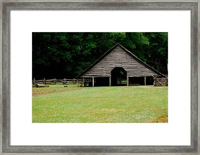 Smokey Mountain Barn Framed Print by Kimberly Camacho
