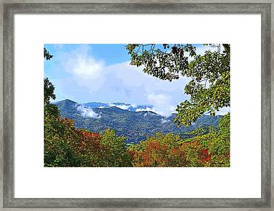 Smokey Mountain Mountain Landscape - A Framed Print by James Fowler