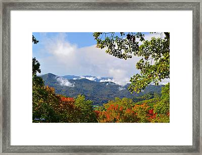 Smokey Mountain Mountain Landscape Framed Print by James Fowler