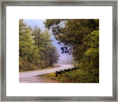 Smokey Mountain Road Framed Print by Shirley Dawson