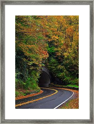 Smokey Mountain Tunnel Framed Print by Dennis Nelson