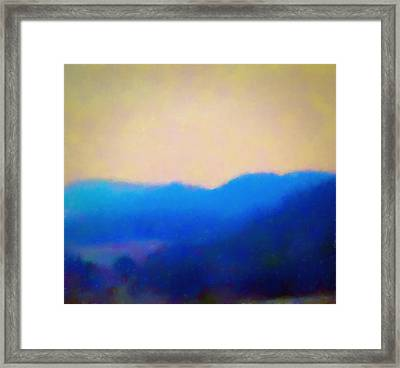 Smokey Mountains Painting Digital Photography Framed Print
