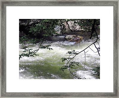 Smokey River Run Framed Print by Mary Sonya  Conti