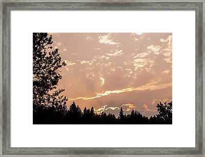 Smokey Skies Sunset Framed Print by Melanie Lankford Photography