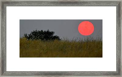 Smokey Sunset Framed Print